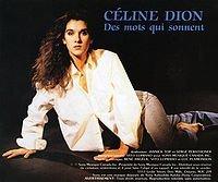 1991 - SINGLE - DES MOTS QUI SONNENT dans 1991 - DION CHANTE PLAMONDON / DES MOTS QUI SONNENT 2655090328_1